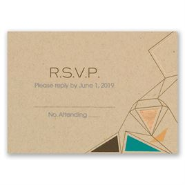 Pretty Prisms - Rose Gold - Foil Response Card