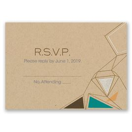 Pretty Prisms - Silver - Foil Response Card