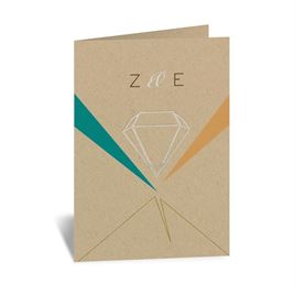 Pretty Prisms - Silver - Foil Thank You Card