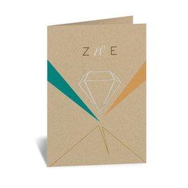 Pretty Prisms - Silver - Foil Thank You Card