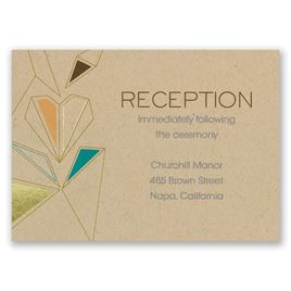 Pretty Prisms - Gold - Foil Reception Card