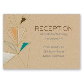 Pretty Prisms - Silver - Foil Reception Card