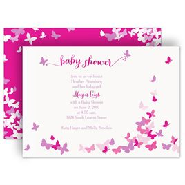 Baby Shower Invitations: Butterfly Dreams Baby Shower Invitation