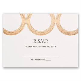 Mosaic Rings - Rose Gold - Foil Response Card