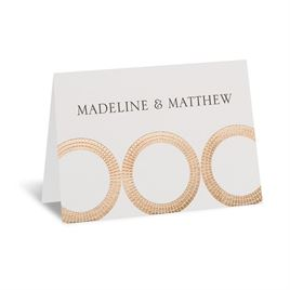 Mosaic Rings - Rose Gold - Foil Thank You Card