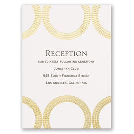 Mosaic Rings - Gold - Foil Reception Card