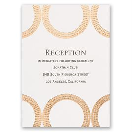 Mosaic Rings - Rose Gold - Foil Reception Card