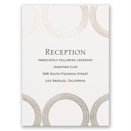 Mosaic Rings - Silver - Foil Reception Card