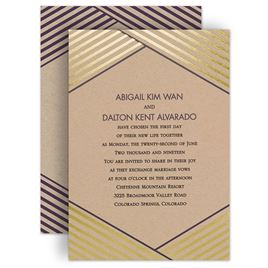Kraft Paper Wedding Invitations Invitations by Dawn