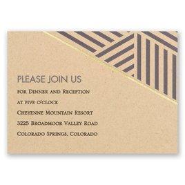 Striped Illusion - Foil Reception Card