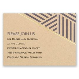 Striped Illusion - Foil Reception Card