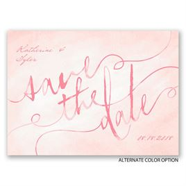 Watercolor Wonder - Save the Date Postcard