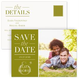 Green Save The Dates: 