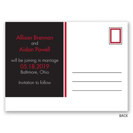 Baseball Lovers - Save the Date Postcard