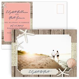 Save the date postcards invitations by dawn by the beach save the date postcard stopboris