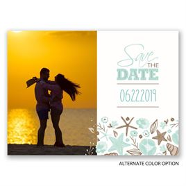 Beach Love - Save the Date Postcard