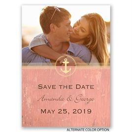 Anchors Aweigh - Save the Date Postcard