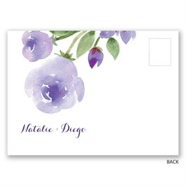Watercolor and Lace - Lavender - Save the Date Postcard