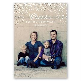 Full of Sparkle - Silver Foil - Holiday Card