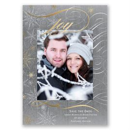 "Winter""s Joy - Gold Foil - Holiday Card Save the Date"