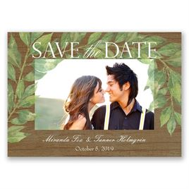 Leaf Prints - Save the Date Magnet