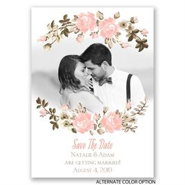 Floral Beauty - Save the Date Magnet