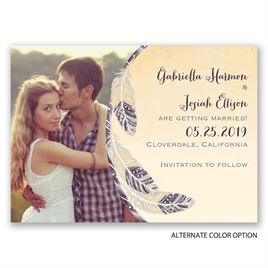 Dancing Feathers - Save the Date Magnet