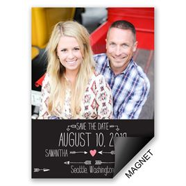 Black and White Save The Dates: 