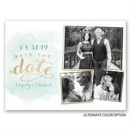 Shining Style - Gold - Foil Save the Date Card