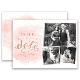 Pink Save The Dates: 