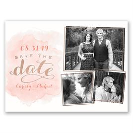 Shining Style - Rose Gold - Foil Save the Date Card