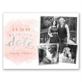 Shining Style - Silver - Foil Save the Date Card