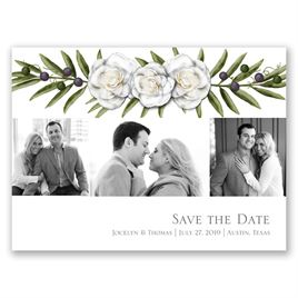 Elegant Gardenias - Save the Date Card