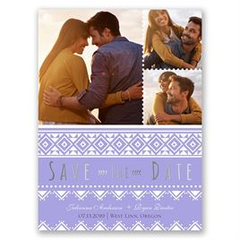 Pretty Patterns - Silver - Foil Save the Date Card