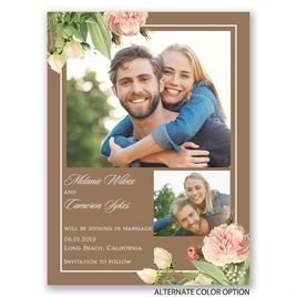 Brilliant Blooms - Save the Date Card