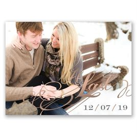 At Last - Rose Gold - Foil Save the Date Card