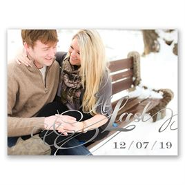 At Last - Silver - Foil Save the Date Card