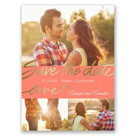 Lots of Love - Gold - Foil Save the Date Card