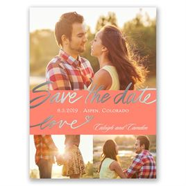 Lots of Love - Silver - Foil Save the Date Card