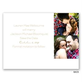 Brushed Banner - Gold - Foil Save the Date Card