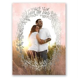 Prairie Charm - Silver - Foil Save the Date Card
