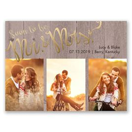 Soon to Marry - Gold - Foil Save the Date Card