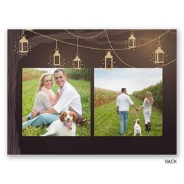 Glowing Lanterns - Gold - Foil Save the Date Card