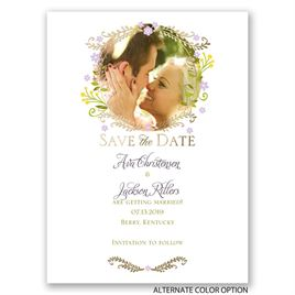 Weaving Flowers - Gold - Foil Save the Date Card