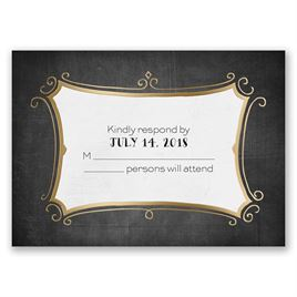 Regal Whimsy - Gold - Foil Response Card