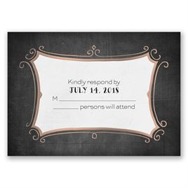 Regal Whimsy - Rose Gold - Foil Response Card