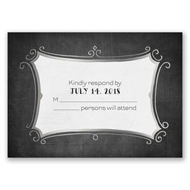 Regal Whimsy - Silver - Foil Response Card
