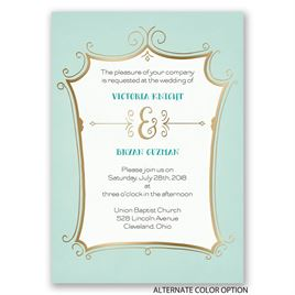 Regal Whimsy - Gold - Foil Invitation