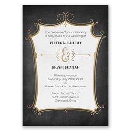 Regal Whimsy - Gold - Foil Invitation