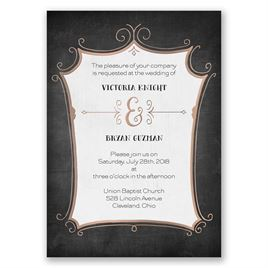 Regal Whimsy - Rose Gold - Foil Invitation